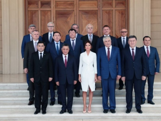 Главы МВД стран СНГ на встрече с Мехрибан Алиевой