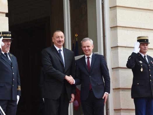 Глава Национальной ассамблеи Франции на встрече с Ильхамом Алиевым