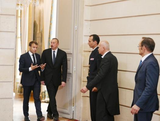 Ильхам Алиев об укреплении сотрудничества с Францией