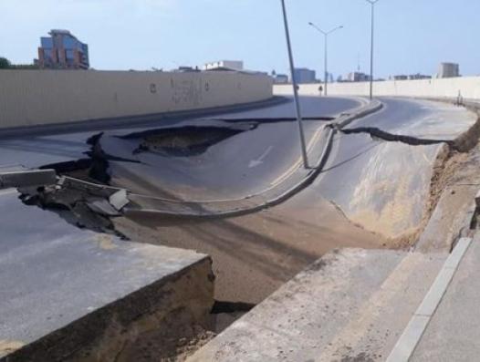 В Баку восстановлена просевшая дорога