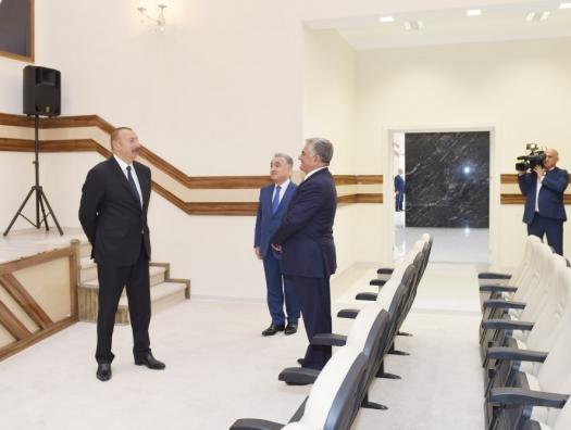 Ильхам Алиев уже в Билясуваре