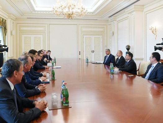 Вице-канцлер Австрии на переговорах с Ильхамом Алиевым