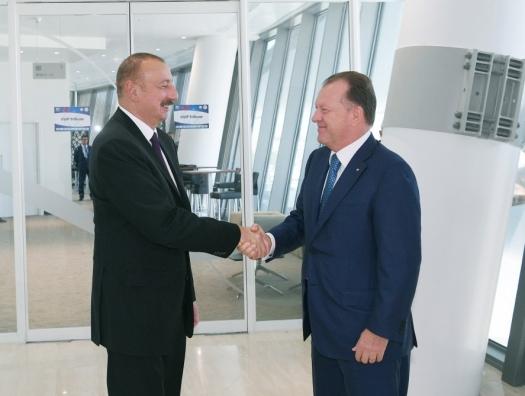 Глава Международной федерации дзюдо на встрече с Ильхамом Алиевым