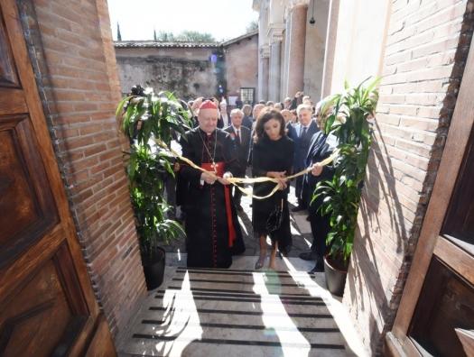Мехрибан Алиева на открытии катакомб в Ватикане