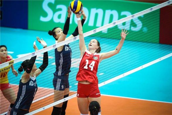 Женская сборная России по волейболу победила Турцию в матче чемпионата мира