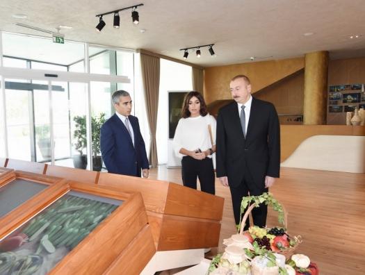 Алиевы на открытии павильона «Милан Экспо» в Баку