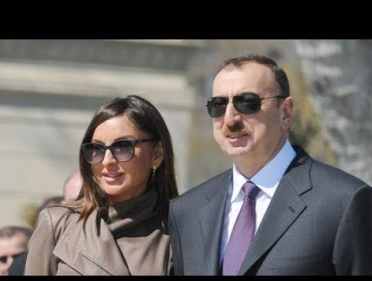 Ильхам и Мехрибан Алиевы в Губе