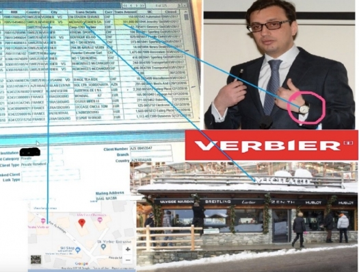 Азербайджанский чиновник купил часы в Швейцарии за 170 тысяч манатов