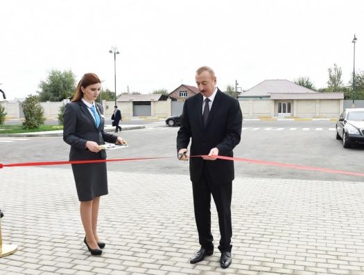 Ильхам Алиев на открытии комплекса ASAN в Имишли