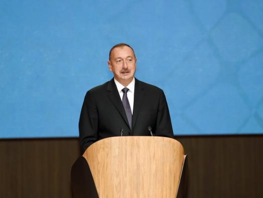 Ильхам Алиев на открытии Международного гуманитарного форума