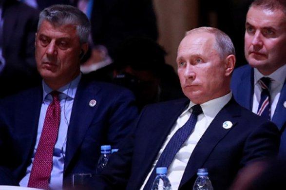 Путин пообщался слидером албанских сепаратистов вкулуарах Парижа— Песков