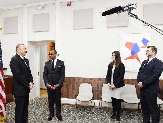 Ильхам Алиев в посольстве США