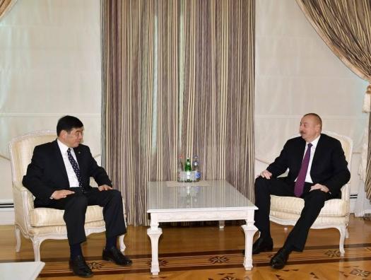 Генсек WCO на переговорах с Ильхамом Алиевым