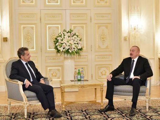 Саркози на переговорах с Ильхамом Алиевым