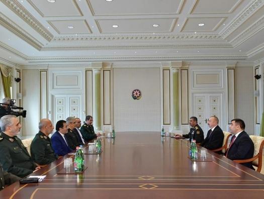 Глава генштаба Ирана на переговорах с Ильхамом Алиевым