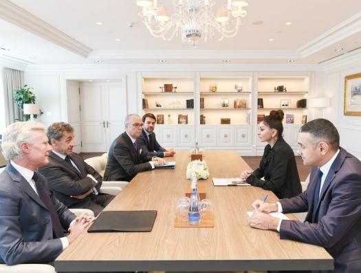 Николя Саркози на встрече с Мехрибан Алиевой