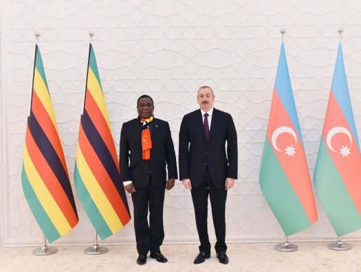 Встреча Ильхама Алиева с президентом Зимбабве
