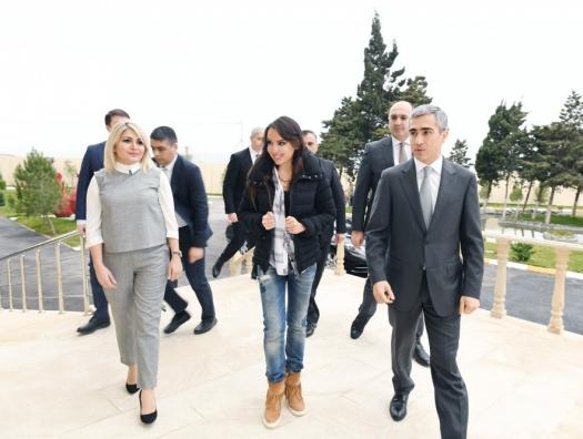 Лейла Алиева на открытии ряда объектов в Баку