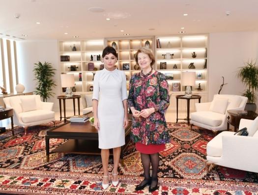 Баронесса Николсон на встрече с Мехрибан Алиевой