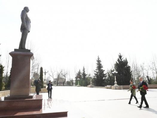 Ильхам Алиев в Шамахе