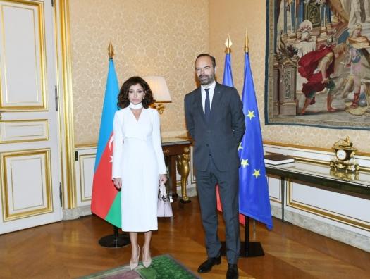 Переговоры Мехрибан Алиевой и премьера Франции