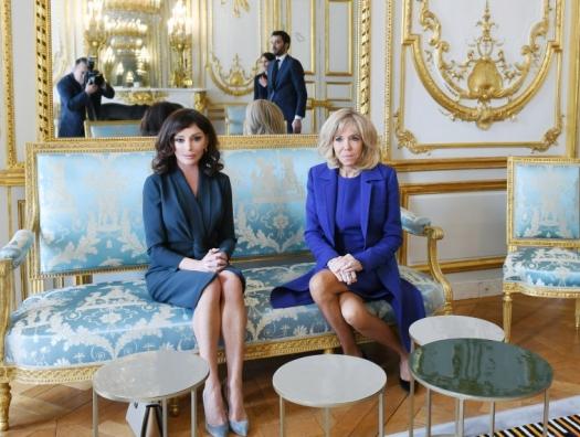 Мехрибан Алиева встретилась с Бриджит Макрон