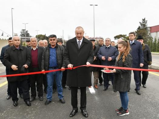 Ильхам Алиев открыл новую дорогу в Баку