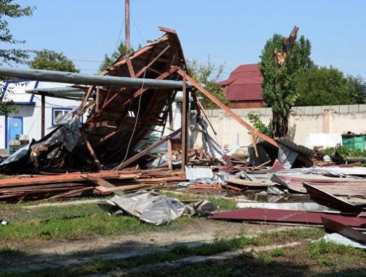 Ураган нанес удар по северным районам Азербайджана