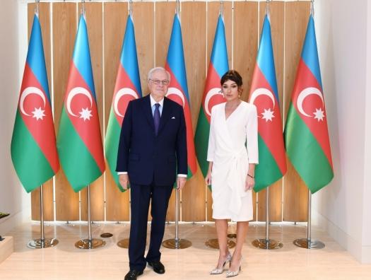 Дэвид де Ротшильд на встрече с Мехрибан Алиевой