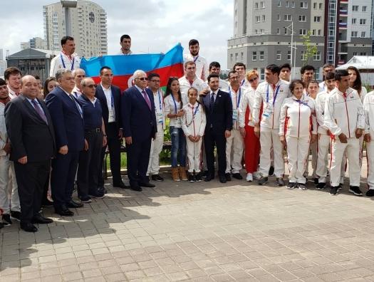 Лейла Алиева посетила Деревню атлетов в Минске