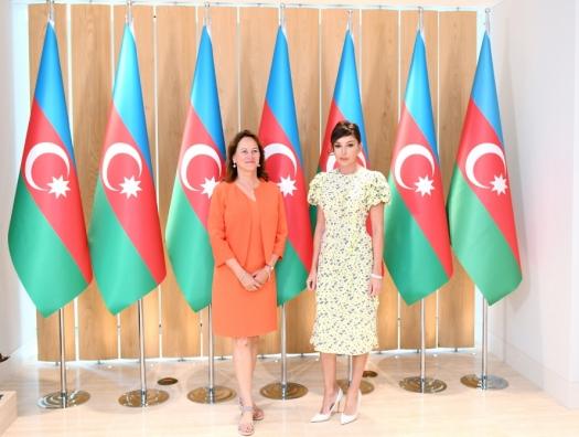 Сеголен Руаяль на встрече с Мехрибан Алиевой