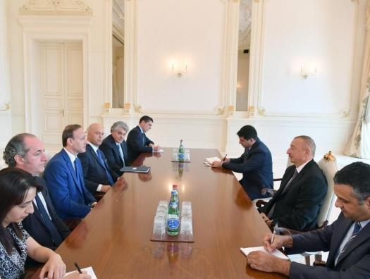Ильхам Алиев принял итальянскую делегацию
