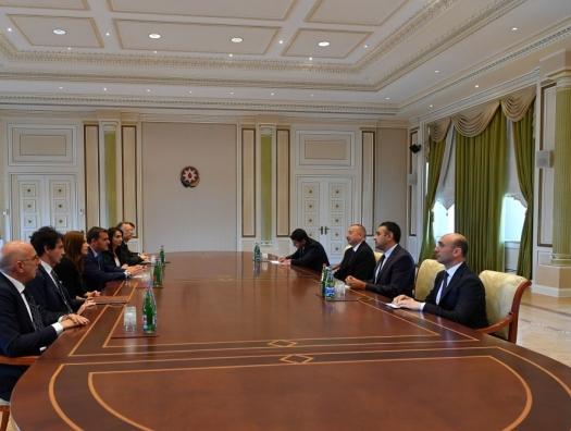 Делегация Италии на переговорах с Ильхамом Алиевым