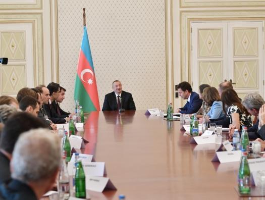 Французские бизнесмены на встрече с Ильхамом Алиевым