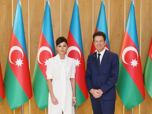 Жоффруа Ру де Безье на встрече с Мехрибан Алиевой