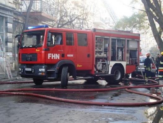 Пожар на Центральном рынке Сабирабада