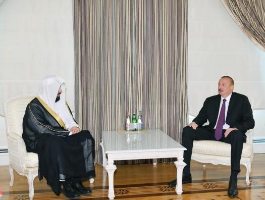 Саудовский министр на переговорах с Ильхамом Алиевым
