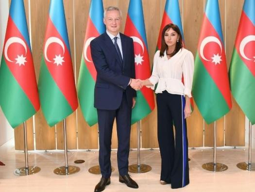 Французский министр на переговорах с Мехрибан Алиевой