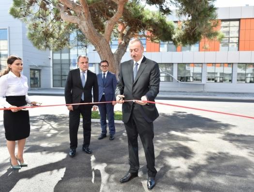 Ильхам Алиев в новом образовательном центре