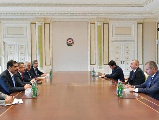 Вице-президент Турции на переговорах с Ильхамом Алиевым