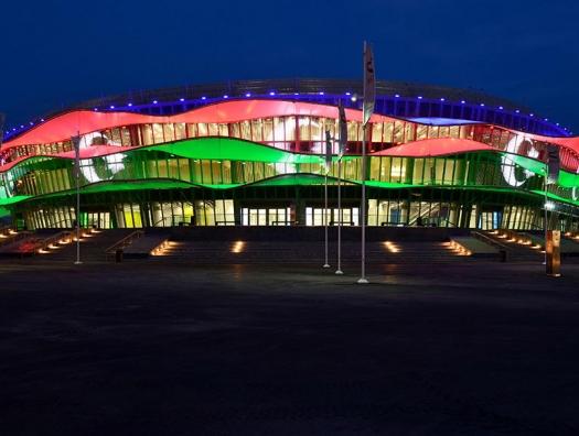 Алиевы на церемонии открытия чемпионата мира в Баку