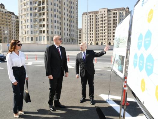 Алиевы на открытии Центра транспортного обмена БТА