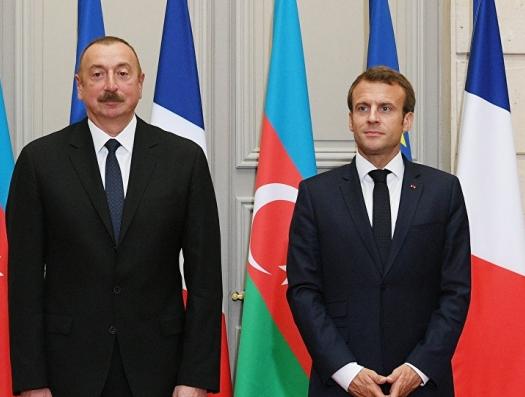 Макрон попросил поддержки у Ильхама Алиева