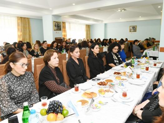 Мехрибан Алиева на церемонии поминовения ученого Васима Мамедалиева