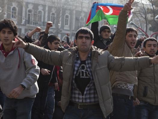 Попытка несанкционированного митинга в Баку, десятки задержанных