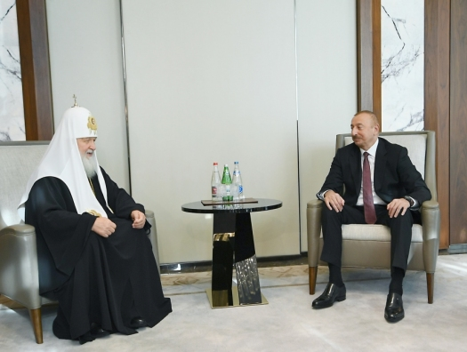 Ильхам Алиев встретился с патриархом Кириллом