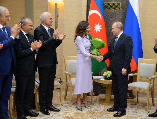 Состоялась встреча Мехрибан Алиевой с Путиным в Москве