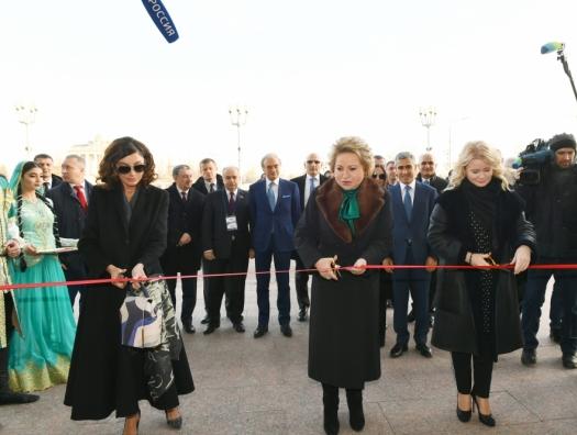 Мехрибан Алиева на открытии павильона «Азербайджан» на ВДНХ в Москве