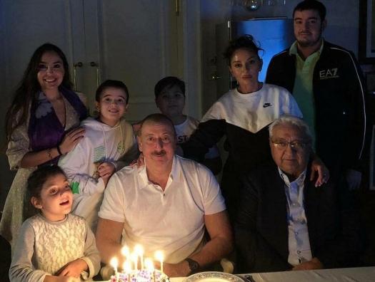 Ильхам Алиев отмечает день рождения в семейном кругу
