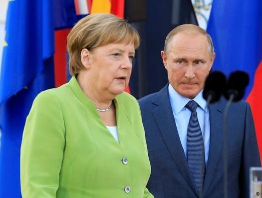 Железный союз Путина и Меркель противостоит Вашингтону